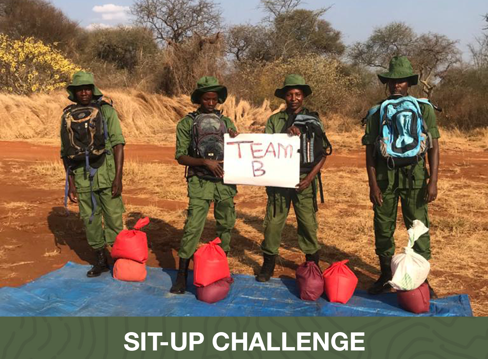 Sit-Up Challenge Winners - African People & Wildlife - Tarangire Ecosystem Team B Tanzania